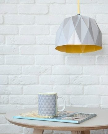 Grey Origami Lampshade