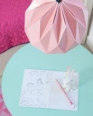 Light Pink Origami Lampshade
