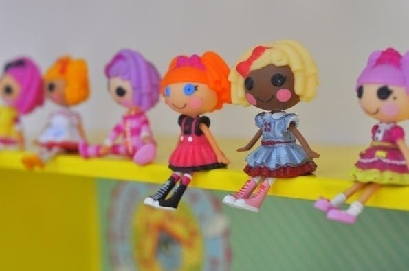 tin box shelves for dolls