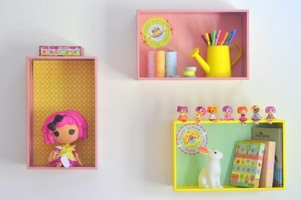 tin box shelves for girls room